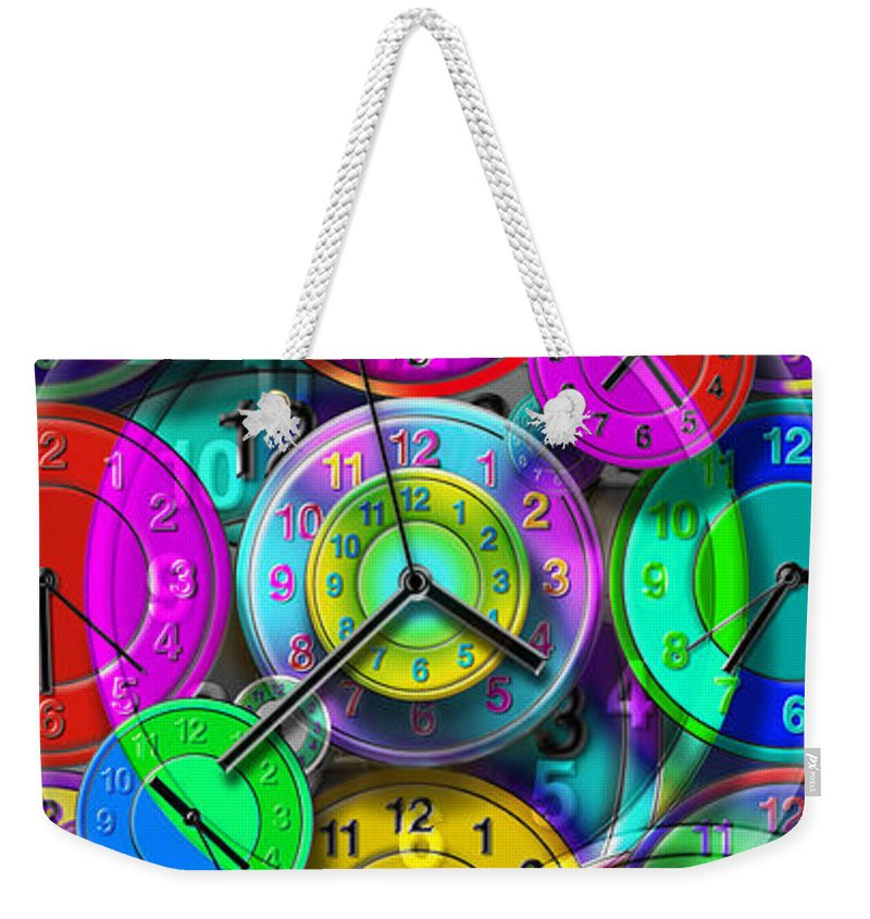 Portrait Weekender Tote Bag featuring the digital art Faces Of Time 1 by Mike McGlothlen
