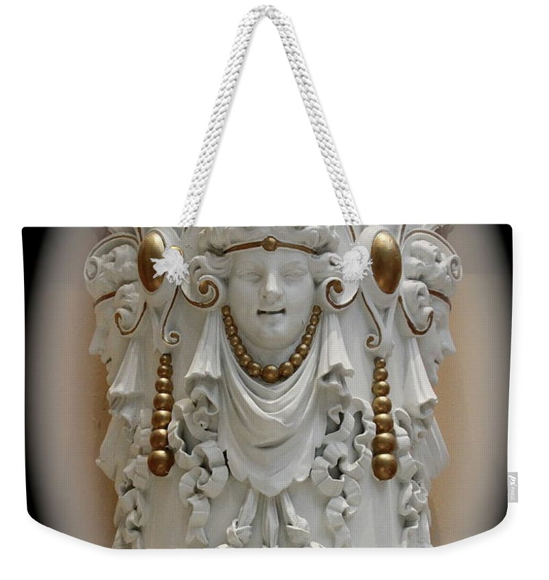 Sculpture Weekender Tote Bag featuring the photograph Faces by Rick Monyahan