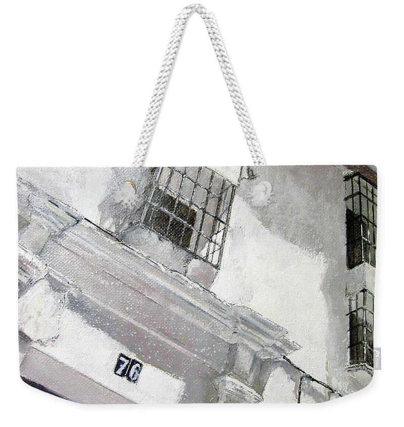 Facades Weekender Tote Bag featuring the painting Fachada Andaluza by Tomas Castano