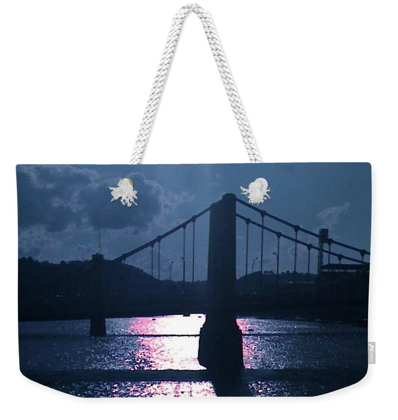 Light Being Weekender Tote Bag featuring the photograph Faciallightpgh by Mary Kobet