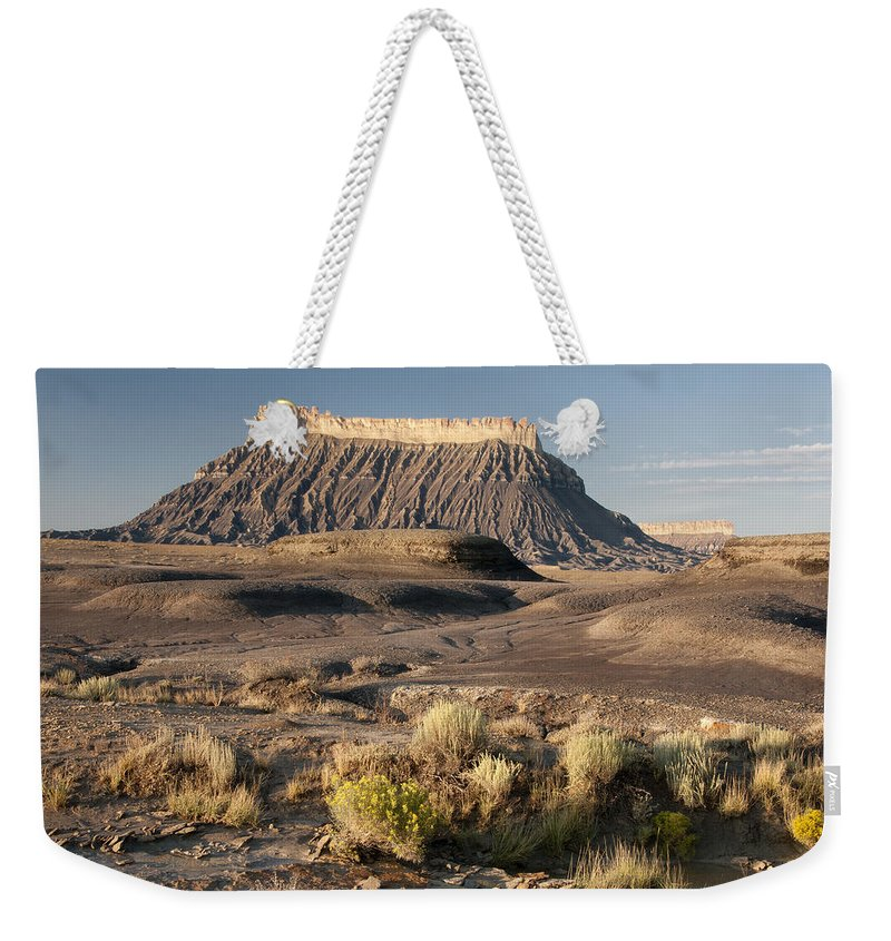 Factory Weekender Tote Bag featuring the photograph Factory Butte 0552 by Bob Neiman