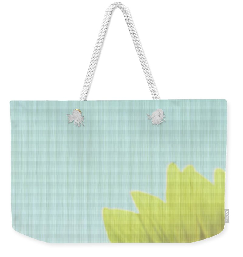 Sunflowers Weekender Tote Bag featuring the photograph Faded by Amanda Barcon