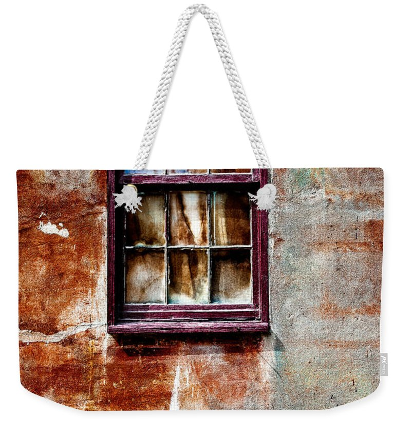 Window Weekender Tote Bag featuring the photograph Faded Over Time 2 by Christopher Holmes