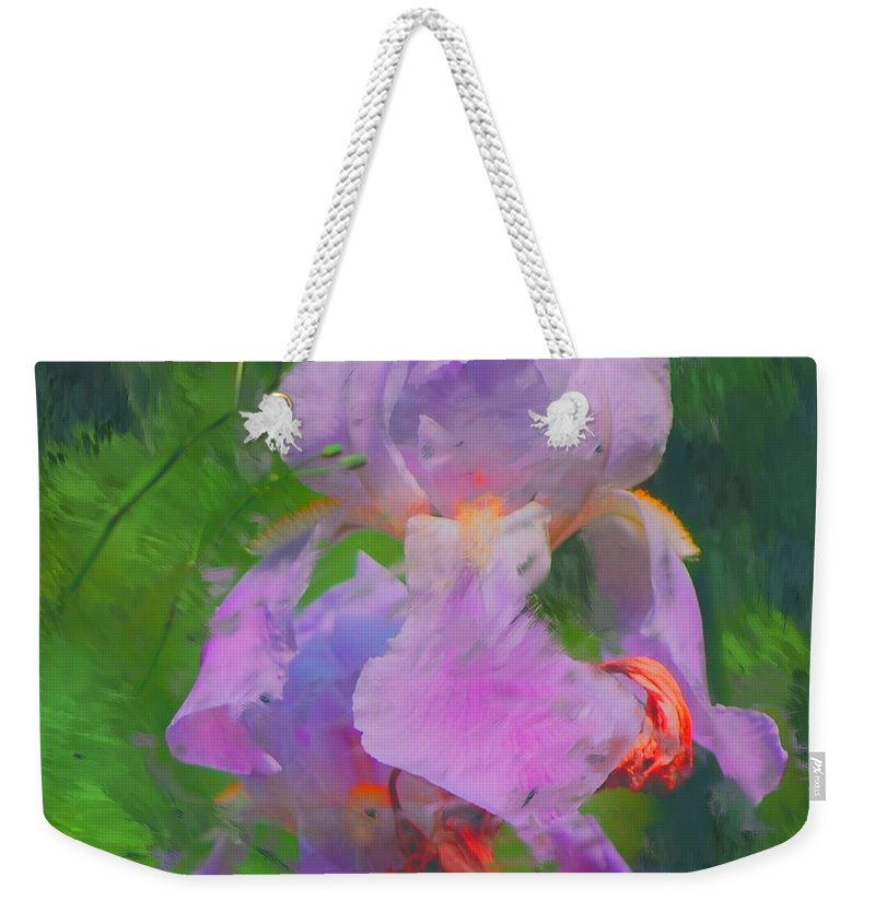 Iris Weekender Tote Bag featuring the painting Fading Glory by David Lane