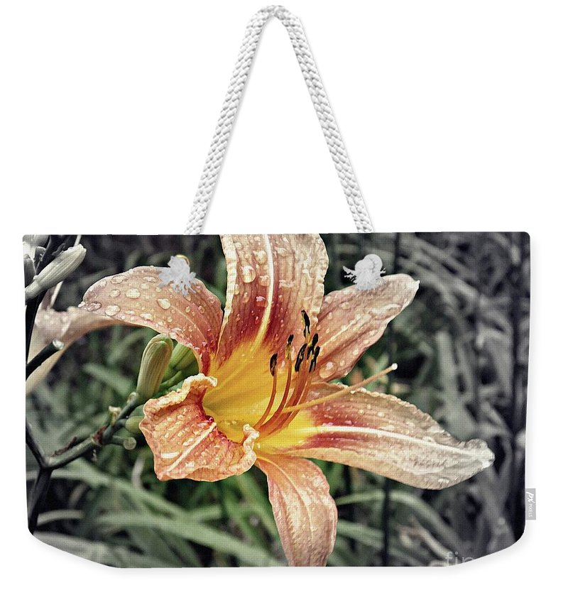 Lily Weekender Tote Bag featuring the photograph Fading Memory by Sarah Loft