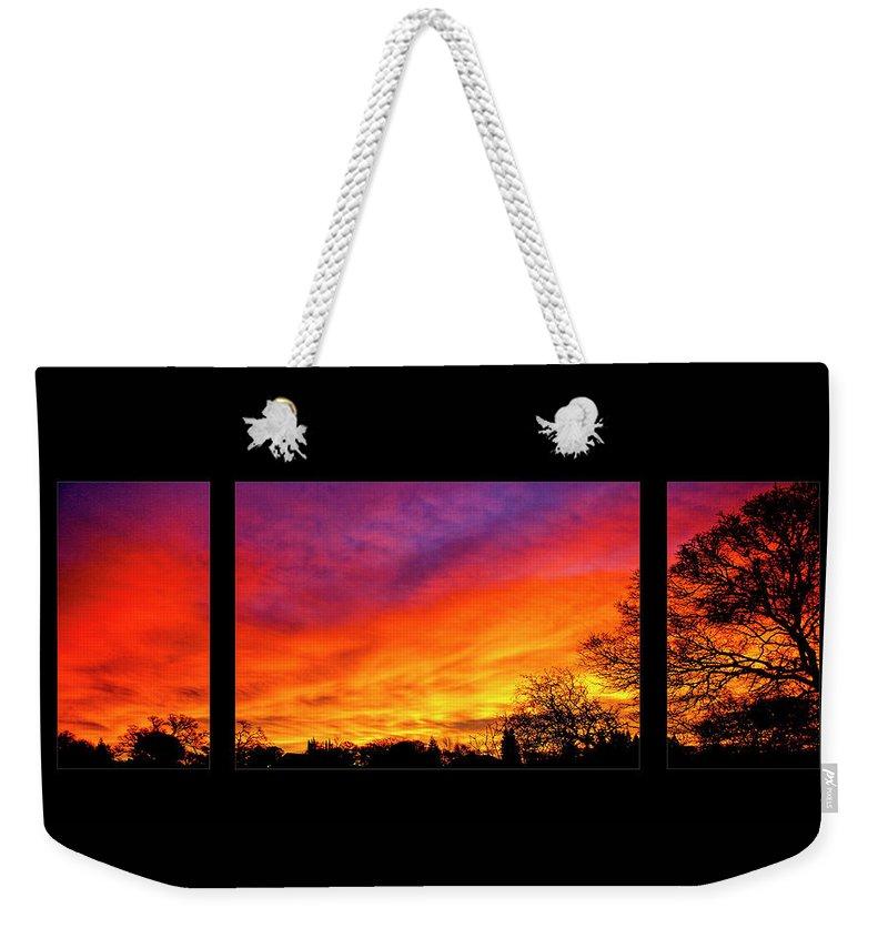 Fair Oaks Weekender Tote Bag featuring the photograph Fair Oaks Sunset by Soroush Mostafanejad