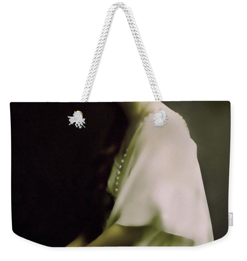 Portrait Weekender Tote Bag featuring the mixed media Fairest Indian Girl by Georgiana Romanovna