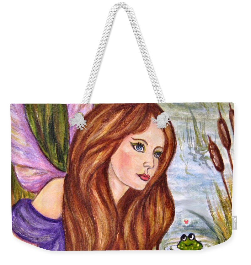 Swamp Fairy Weekender Tote Bag featuring the painting Fairy by Frances Gillotti