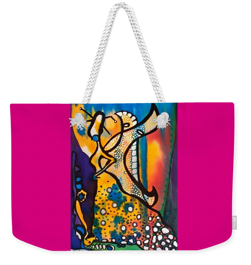 Fairy Queen Weekender Tote Bag featuring the painting Fairy Queen - Art By Dora Hathazi Mendes by Dora Hathazi Mendes
