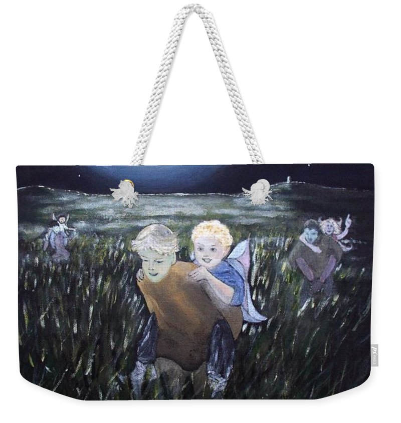 Fairy Races At Tara Weekender Tote Bag featuring the painting Fairy Races At Tara by Martine Murphy