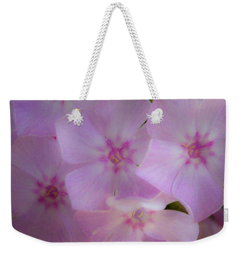 Phlox Weekender Tote Bag featuring the photograph Fairy Tale Phlox by Teresa Mucha