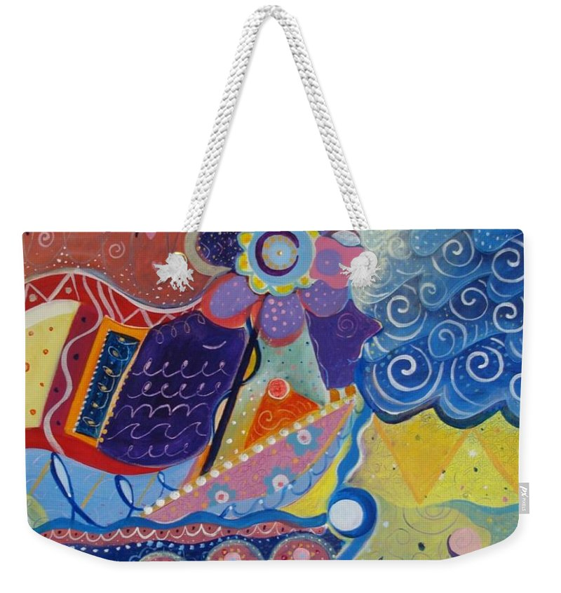 Imaginary Weekender Tote Bag featuring the painting Fairy Tales by Helena Tiainen