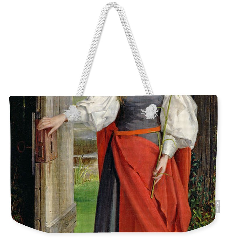 Female Weekender Tote Bag featuring the painting Faith by George Dunlop Leslie