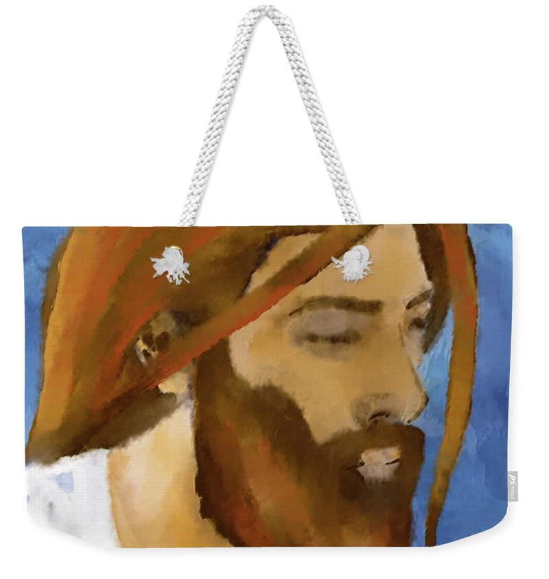 Faith Weekender Tote Bag featuring the painting Faith by William Depaula