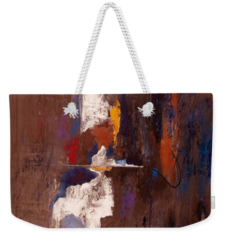 Abstract Weekender Tote Bag featuring the painting Faithful And True by Ruth Palmer