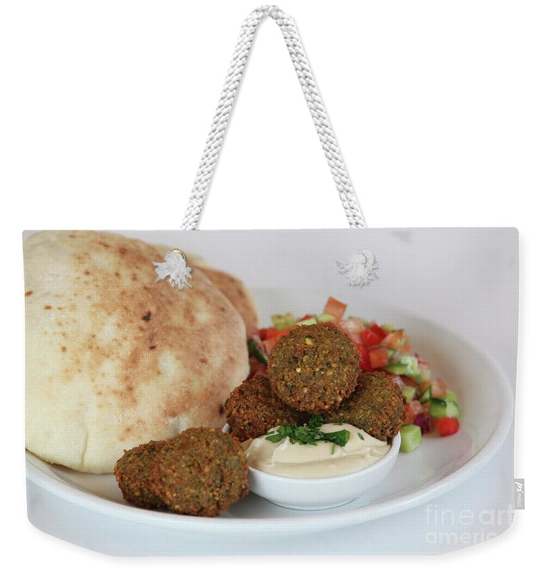 Plate Weekender Tote Bag featuring the photograph Falafel Balls by PhotoStock-Israel