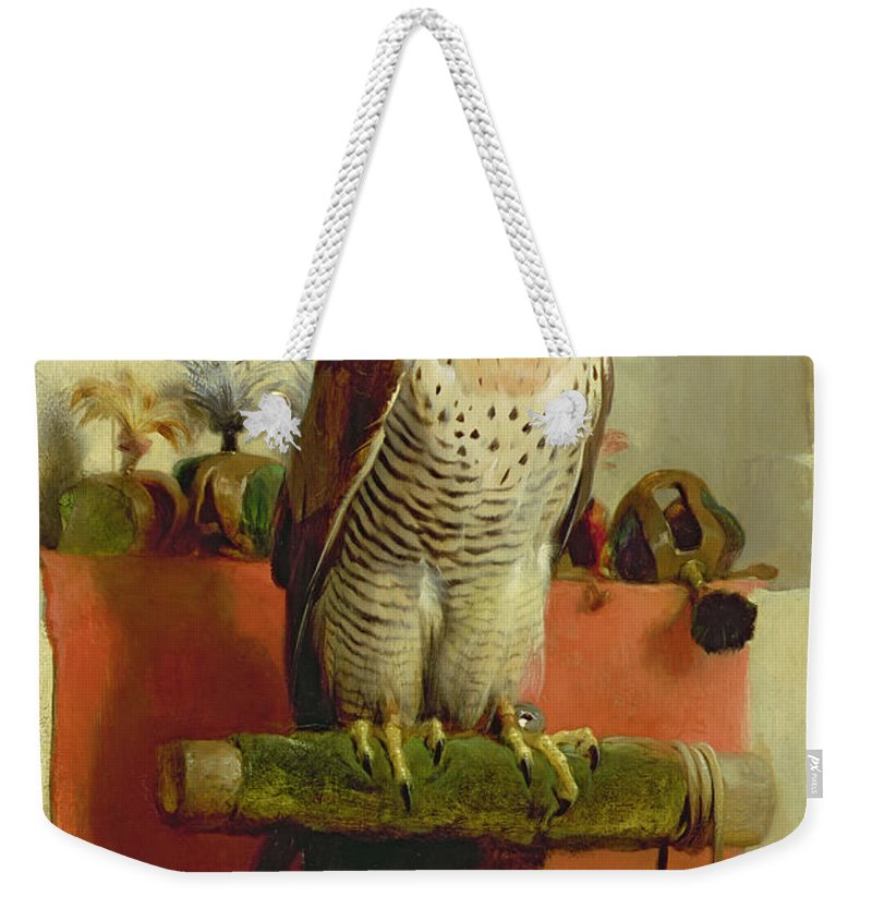 Falcon Weekender Tote Bag featuring the painting Falcon by Sir Edwin Landseer