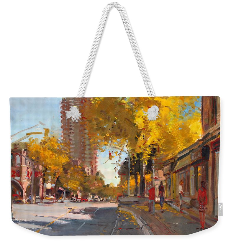 Fall In Canada Weekender Tote Bag featuring the painting Fall 2010 Canada by Ylli Haruni