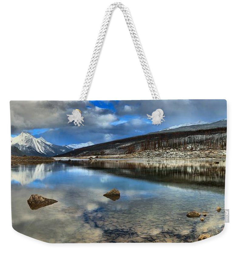 Medicine Lake Weekender Tote Bag featuring the photograph Fall Afternoon At Medicine Lake by Adam Jewell