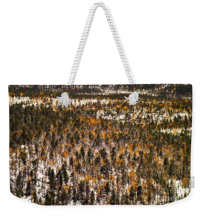 Europe Weekender Tote Bag featuring the photograph Fall And Winter On The Same Day by Heiko Koehrer-Wagner