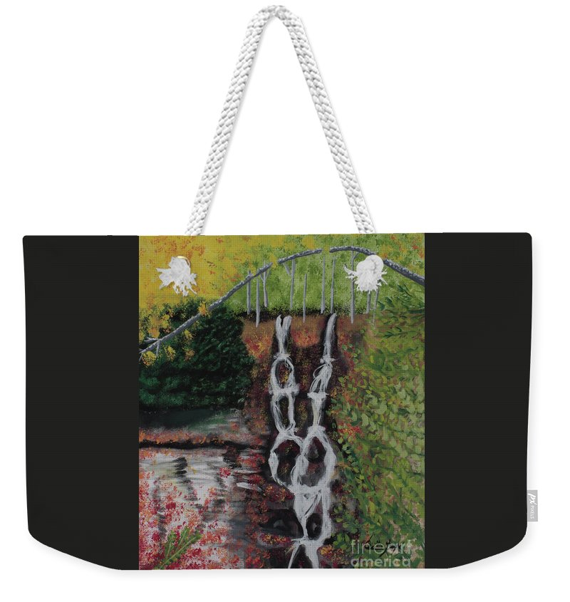 Fall Weekender Tote Bag featuring the photograph Gatineau Park In Autumn by Cecille Gagne