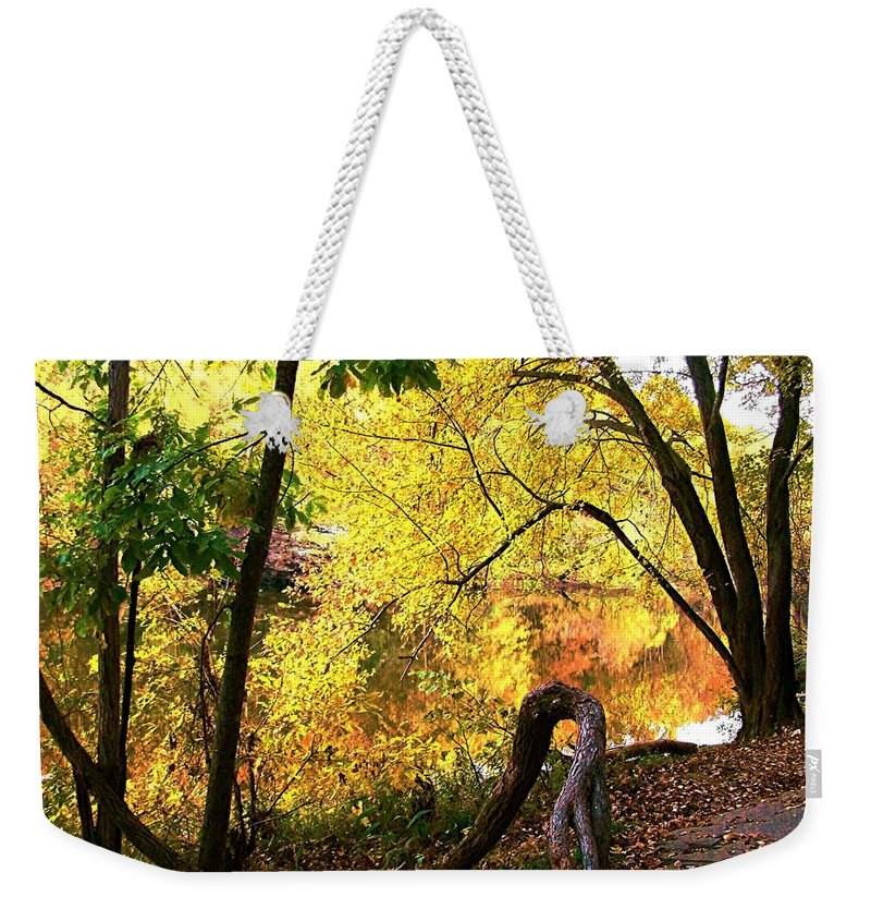Fall Weekender Tote Bag featuring the photograph Fall At Lincoln Lake	 by Terry Anderson