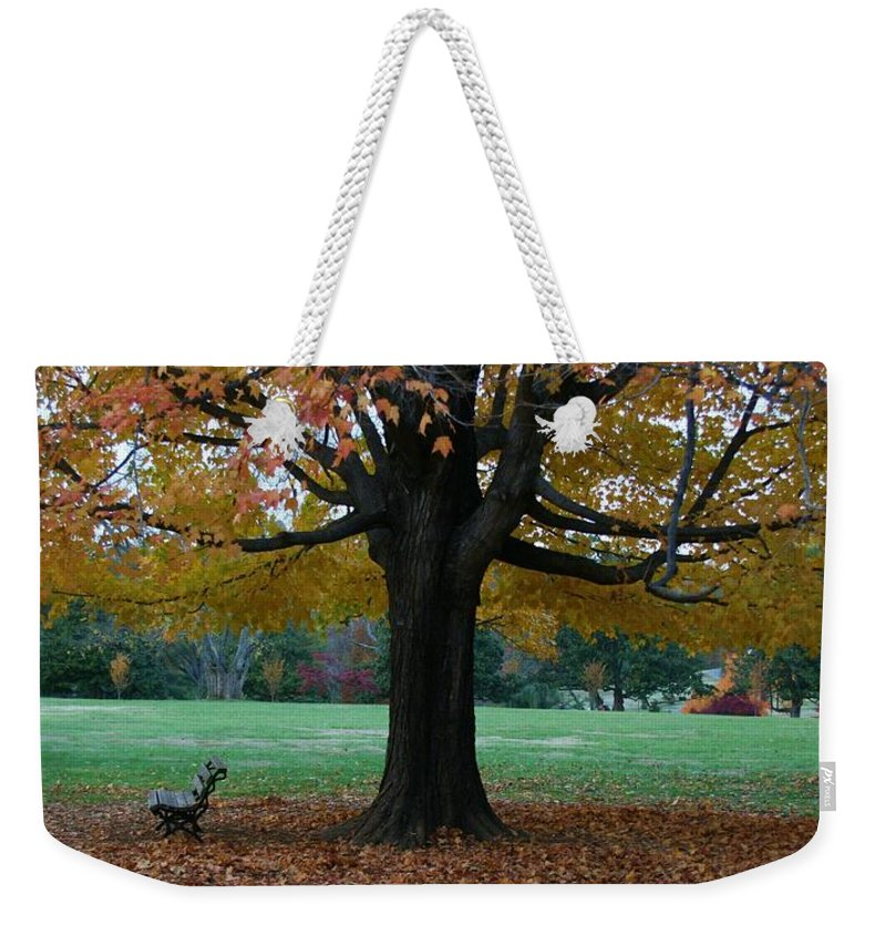 Maymont Weekender Tote Bag featuring the photograph Fall At Maymont by Tina Meador
