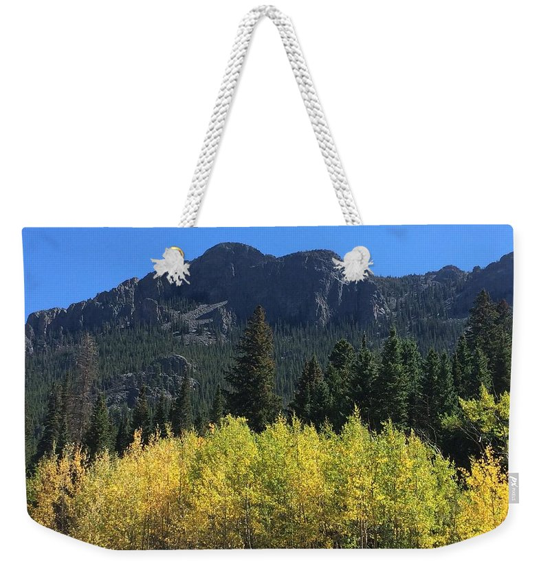 Landscape Weekender Tote Bag featuring the photograph Fall At Twin Sisters by Kristen Anna