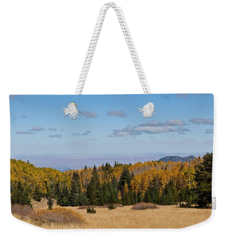 Arizona Weekender Tote Bag featuring the photograph Fall Colors In The Inner Basin by Jeff Goulden