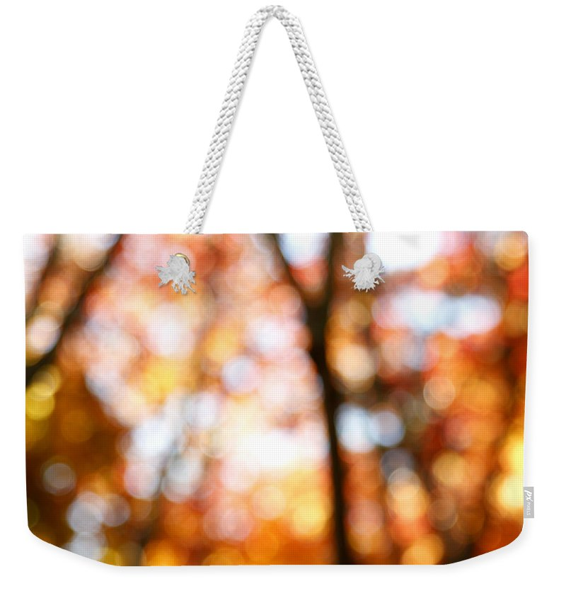 Abstract Weekender Tote Bag featuring the photograph Fall Colors by Les Cunliffe