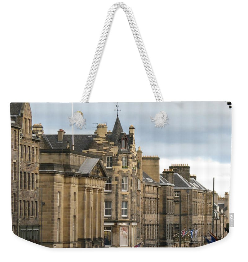 Edinburgh Weekender Tote Bag featuring the photograph Fall Day In Edinburgh by Amanda Barcon