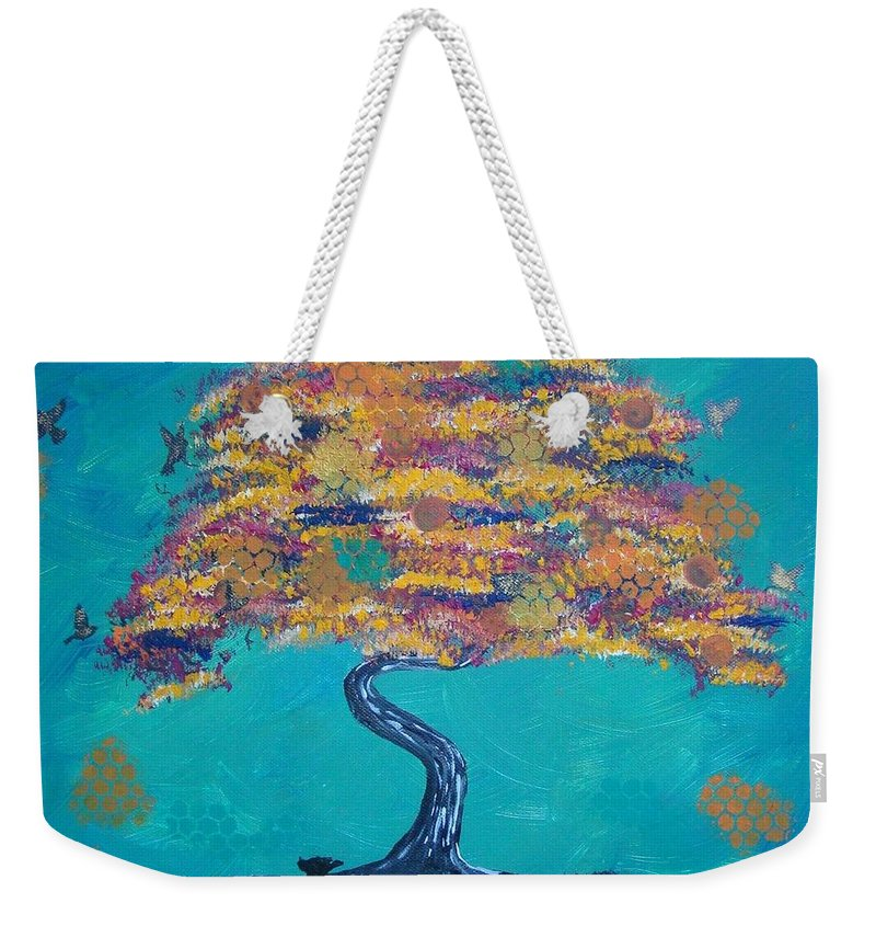 Fall Weekender Tote Bag featuring the painting Fall by Diana Chitu