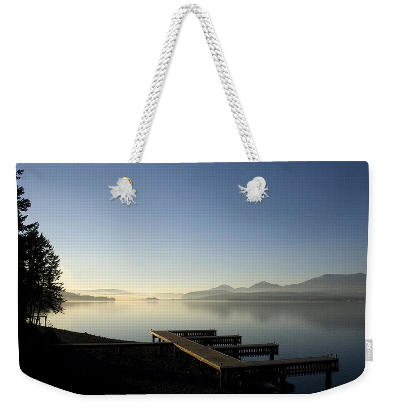 Landscape Weekender Tote Bag featuring the photograph Fall Evening by Lee Santa