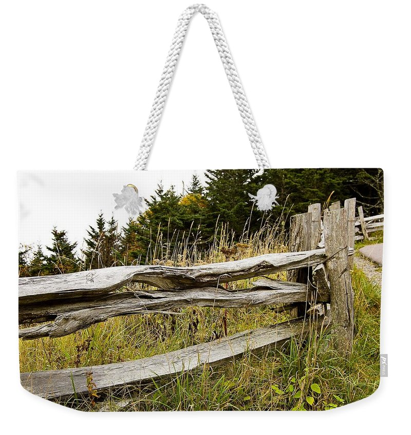 Living Room Weekender Tote Bag featuring the photograph Fall Fencing by Johnnie Stanfield