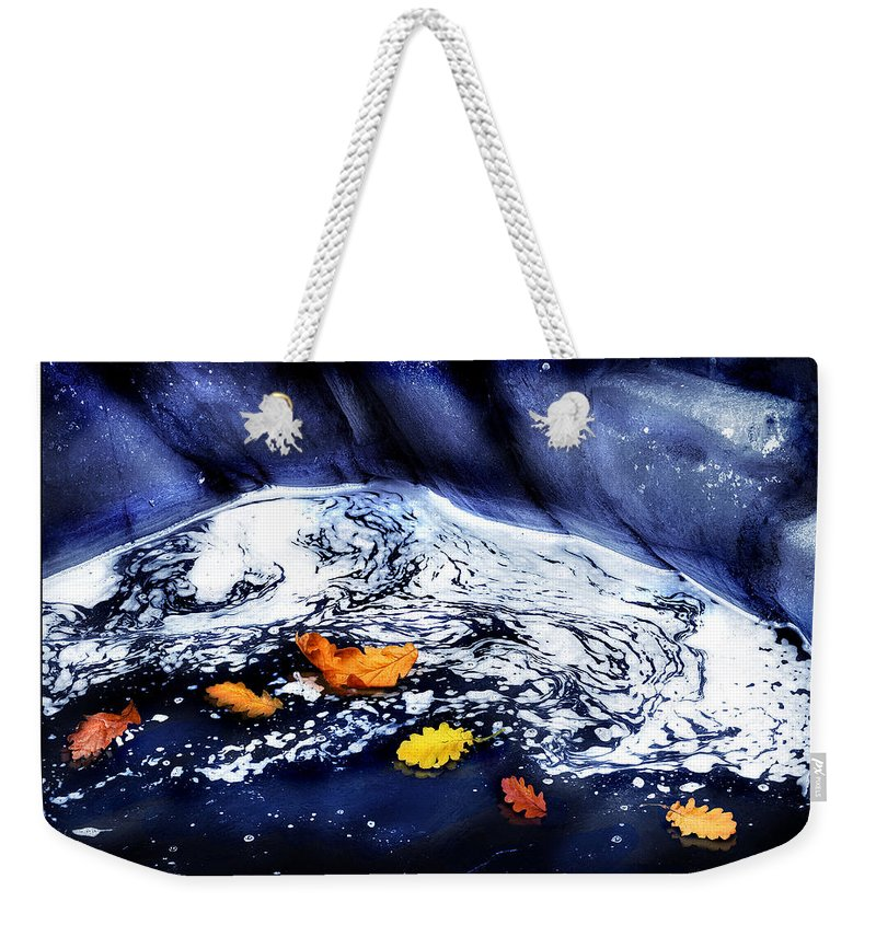 Fall Weekender Tote Bag featuring the photograph Fall Flotilla by Mal Bray