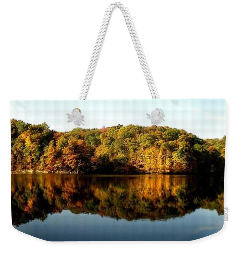 Fall Weekender Tote Bag featuring the photograph Fall In Indiana by Carol Milisen