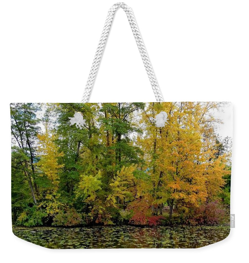 Kaloya Park Weekender Tote Bag featuring the photograph Fall In Kaloya Park 10 by Will Borden