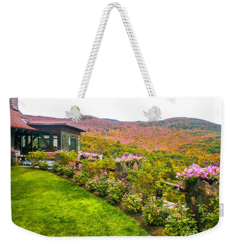 New England Weekender Tote Bag featuring the photograph Fall In New Hampshire by Claudia M Photography