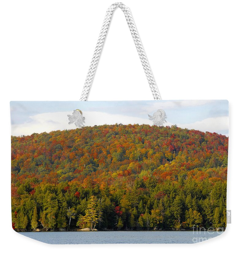 Fall Weekender Tote Bag featuring the photograph Fall Island by David Lee Thompson