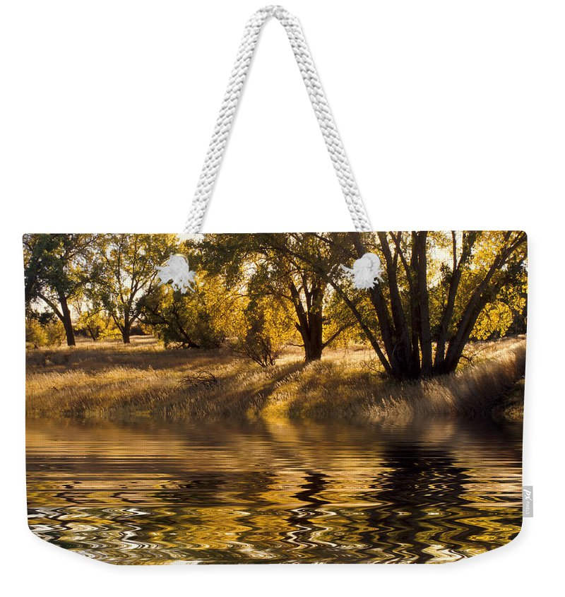 Fall Weekender Tote Bag featuring the photograph Fall Reflections by Jerry McElroy