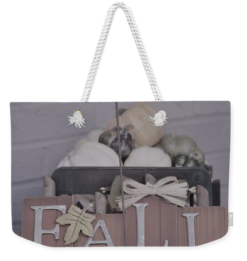 Fall Weekender Tote Bag featuring the photograph Fall S/c by Erica Degni