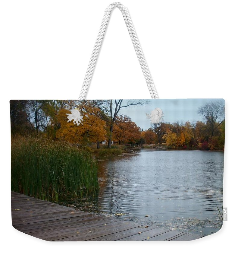 Fall Weekender Tote Bag featuring the photograph Fall Series 10 by Anita Burgermeister