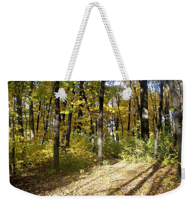 Fall Weekender Tote Bag featuring the photograph Fall Series 2 by Anita Burgermeister