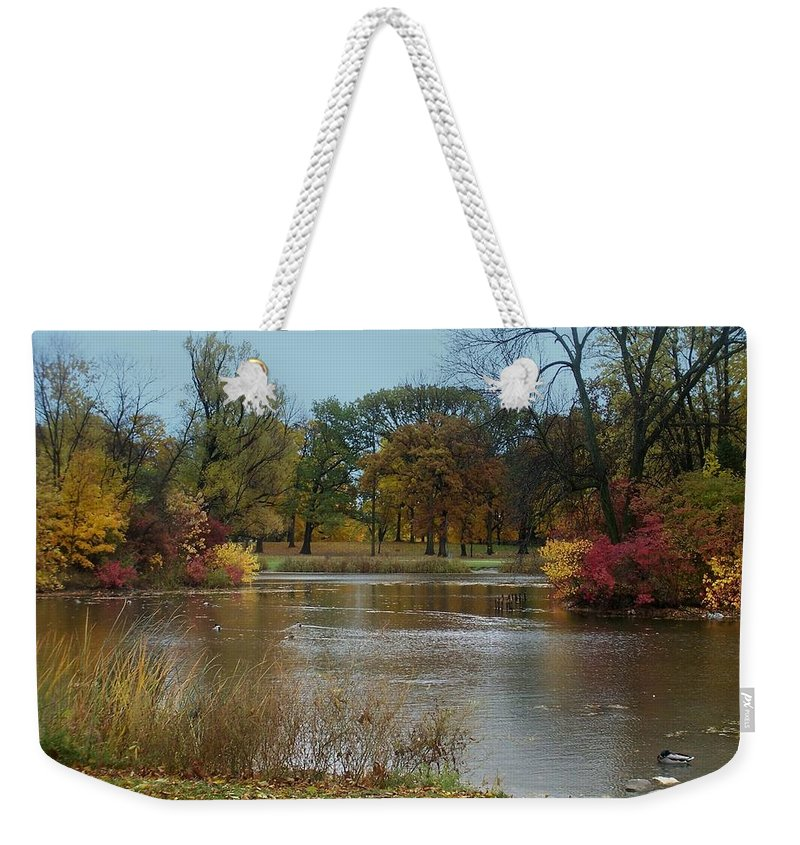 Fall Weekender Tote Bag featuring the photograph Fall Series 9 by Anita Burgermeister