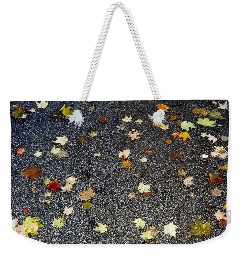 Leaves Weekender Tote Bag featuring the photograph Fall Sparkle by Deborah Crew-Johnson