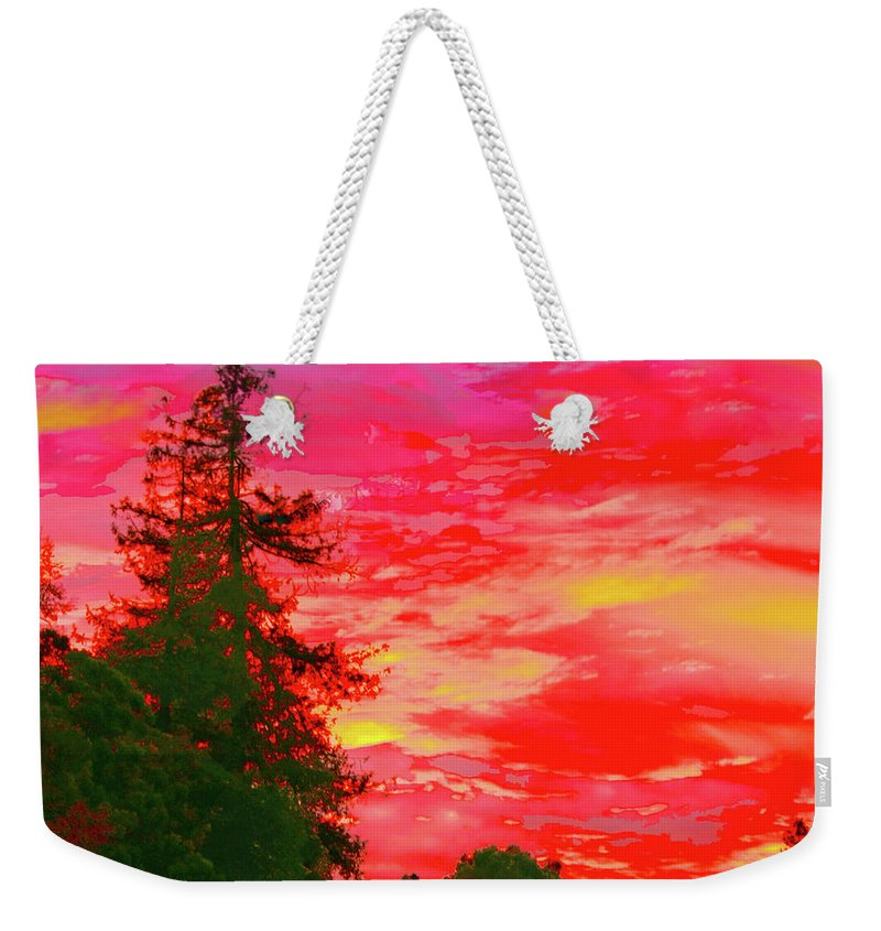 Sunrise Weekender Tote Bag featuring the photograph Fall Sunrise by Stephen Edwards