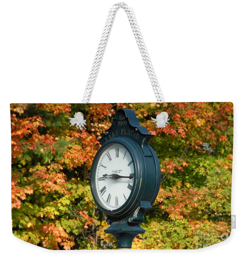 Lake Placid New York Weekender Tote Bag featuring the photograph Fall Time by David Lee Thompson