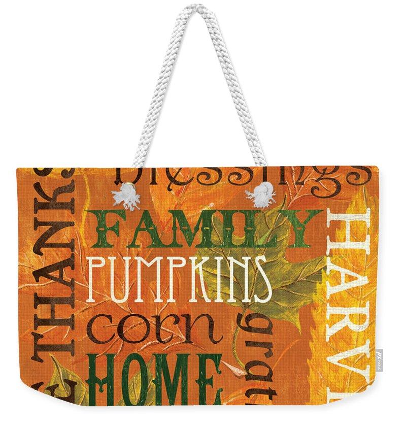 Thanksgiving Weekender Tote Bags