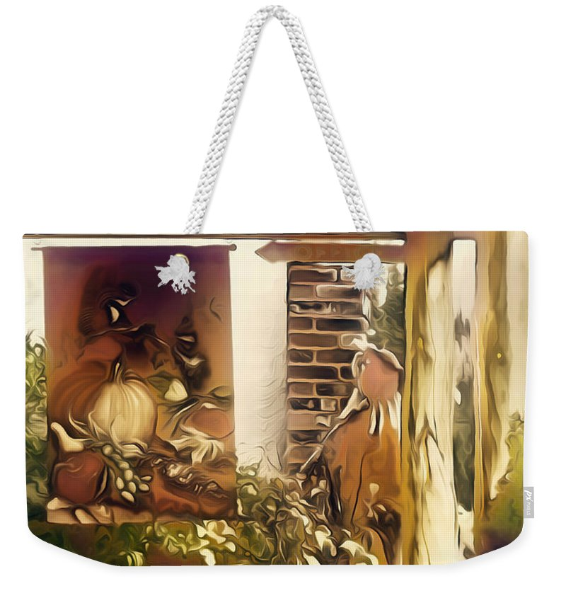 Fall Weekender Tote Bag featuring the digital art Fall Upon Us by D R