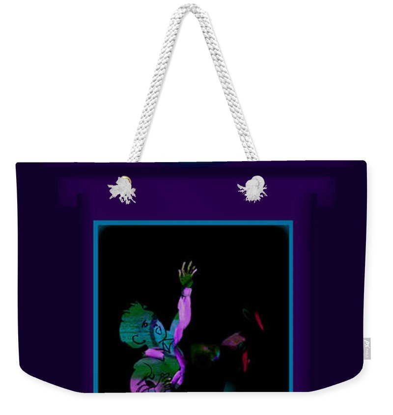 Palladian Weekender Tote Bag featuring the painting Fall Violet by Charles Stuart